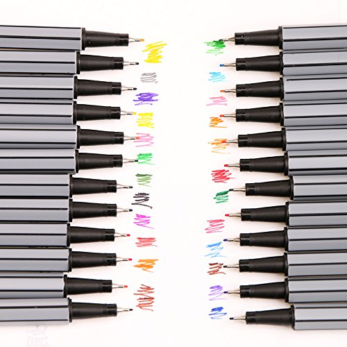 Colorful Pen Art Fine Professional Watercolor Pens Art Office Painting by Office & School Supplies YingYing (Image #1)