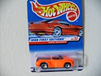Hot Wheels - 1998 First Editions - Dodge Sidewinder - Neon Orange - Die Cast - Collector #634 - #3 of 45 - Rare Red Card - Limited Edition - Collectible 1:64 Scale
