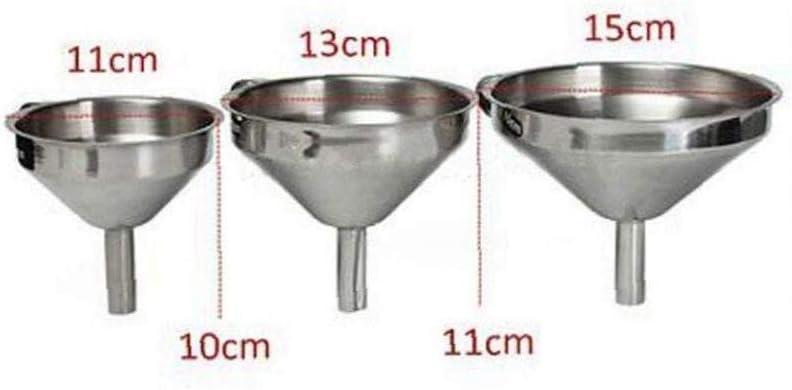 Romote Edelstahl-/Öl-Trichter Multi Fl/üssig Trichter mit abnehmbarem Schmutzf/änger f/ür /Ätherisches /Öl Flaschen Flaschen DIY Lipbalms