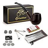 Smoking Pipe, FeelGlad® Ebony Tobacco Pipe with Pipe Accessories (wooden)
