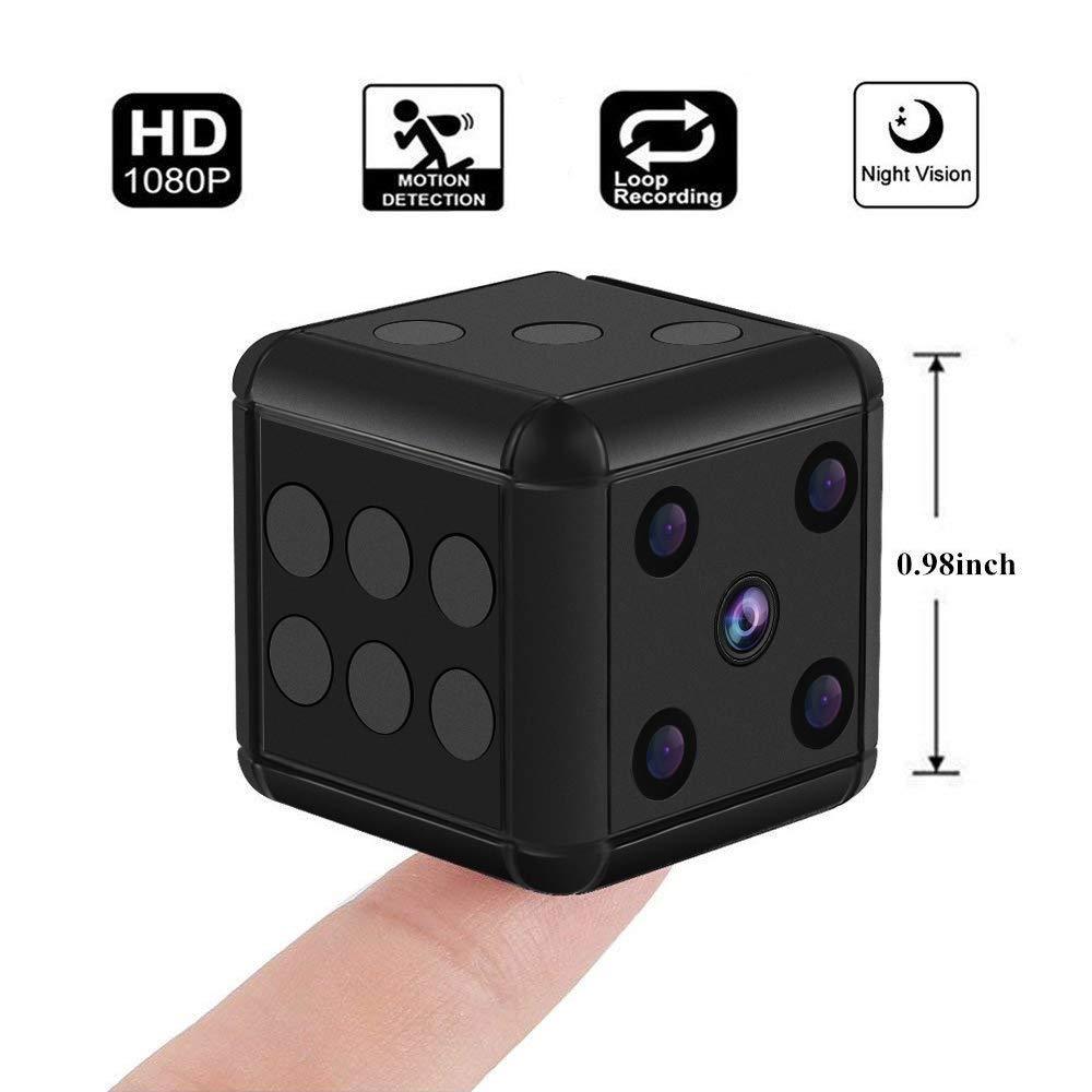 Mini cámara HD Videocámara Visión Nocturna Dados Cámara de Video Gratis 1080p Cámara Deportiva Mini DV Grabadora de Video: Amazon.es: Electrónica