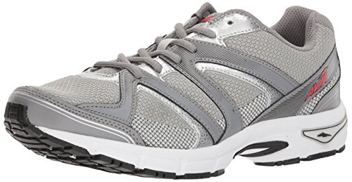 Avia Men's Avi-Execute-II Running Shoe, Chrome Silver/Frost Grey/Black, 8.5 M US ()