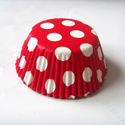 Red Polka dot Muffin Cupcake Liners Paper case birthday Baking Cups 500 pcs,Standard Size 3''