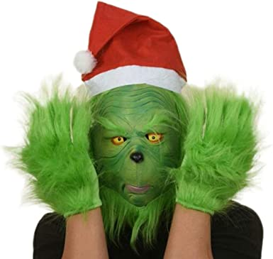 The Grinch Mask Movie Cosplay Helmet Christmas Costume Props Adult Xmas 2019