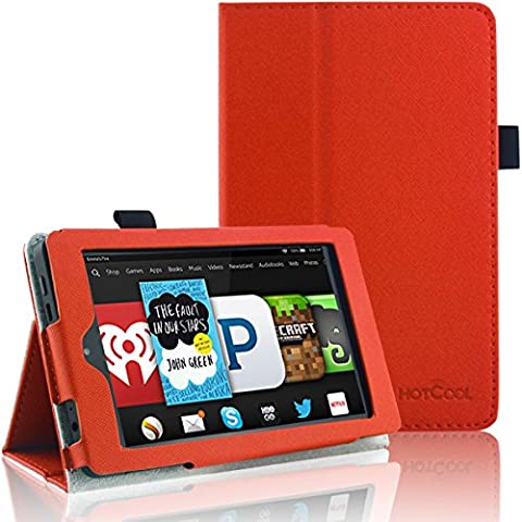 Kindle Fire HD 6 (2014 4th Gen) Case - HOTCOOL Slim New PU-Leather Folio With Auto Wake/Sleep Feature Cover Case For Amazon New Kindle Fire HD 6.0 Inch (4th Generation) 2014 Tablet, (Kindle Fire Case 6 Inch Hard Case)