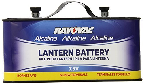 Rayovac 803 Lantern Battery, 7.5 Volt Screw Terminals, Alkaline Emergency by Rayovac (Screw Lantern Terminal)