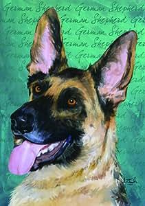 David T. Sands Dog Breeds Estate Flag-German Shepherd