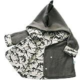 Kids Baby Boys Cartoon Dinosaur Print Hoodie Outwear Coat size 12-18 Months (Gray)