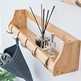 Creative Multifunctional Clothes Hat Hanger Living Room Bedroom Decoration Hanging Hook Rack ( Color : Bamboo , Size : 5 hook )
