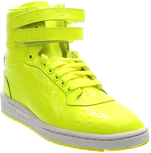 PUMA Men's Sky II Hi Patent Emboss Fashion Sneaker, Safety Yellow, 12 M US