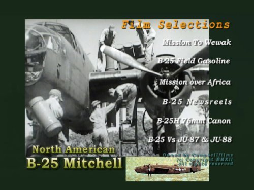 B-25 Mitchell Bomber WW2 Old Films Pacific War Mission for sale  Delivered anywhere in USA