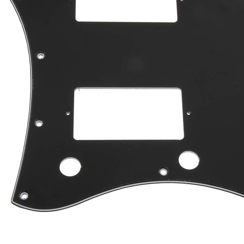 Blanco tal como se describe 1 Pieza de Guitarra de 3 Capas Cara Completa Pickguard Golpeador Duradera Exquisita Dise/ño Ajustable Inform/ática