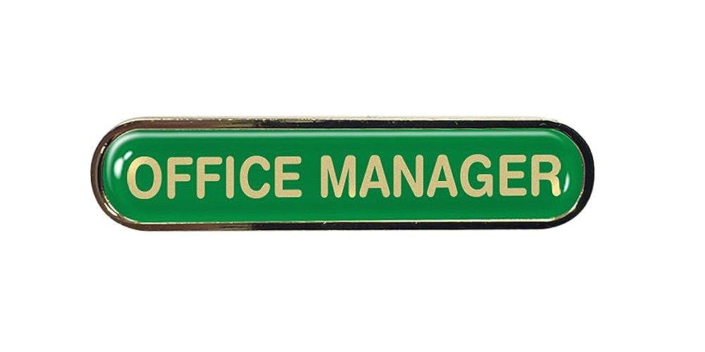 Office Manager Gel Domed School Bar Badge