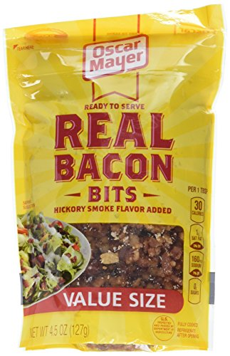 Real Bacon Bits, 4.5-Ounce Pouches (Pack of 6)