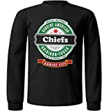 Football- Long Sleeve Chiefs Beer Shirt - Sizes up to 6XL