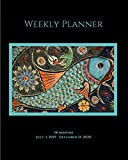 "Weekly Planner: Oriental fish; 18 months; July 1, 2019 - December 31, 2020; 8"" x 10"""