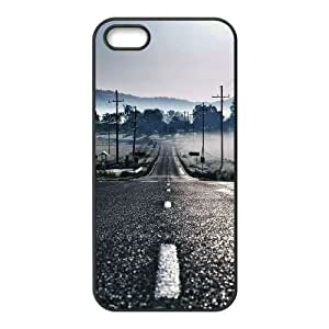 iPhone 4 4s Cell Phone Case Black Road to Fog Djehp