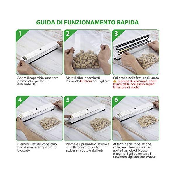 Macchina Sottovuoto per Alimenti, iLmyh Sigillatore Automatico Sottovuoto per Alimenti Freschi Sia Secchi Che Umidi… 5