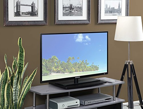 Convenience Concepts Designs2Go Single Tier TV Swivel Board for Flat Panel TV's Up to 20-Inch or 60-Pounds, Black (Flat Panel Single Small)