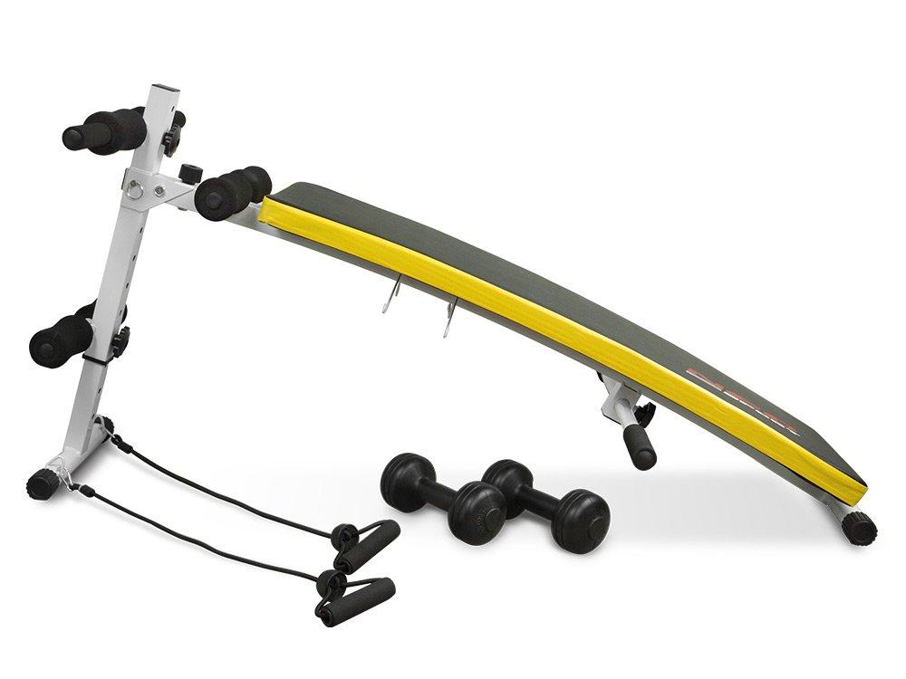 Sit-Up Banco de Neo Sport NS 07 - Aparato para entrenamiento lumbar Abdominales abdominal con Expander y mancuernas: Amazon.es: Deportes y aire libre