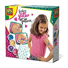 SES Creative Fashion tatuajes de brillantina - Maquillaje de juguete (Tattoo set, Multicolor, Femenino, 5 año(s), Países Bajos, Caja) , color/modelo surtido