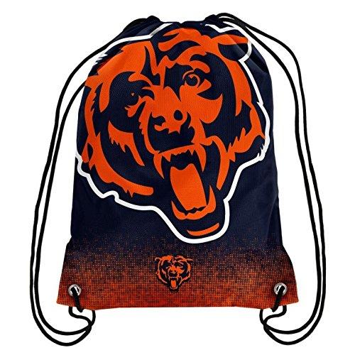 NFL Football Team Logo Drawstring Backpack Bag - Pick Team (Chicago Bears) (Bear Bags)