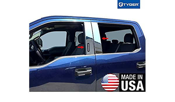Tyger Fits 2017 Ford F250/F350 Super cabina/cabina Supercrew (cromo, Pilar de acero inoxidable Post con teclado: Amazon.es: Coche y moto