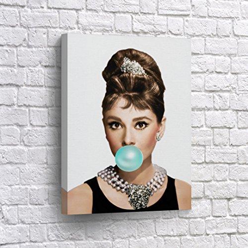Buy4Wall Audrey Hepburn Canvas Wall Art Printing Blue Gum Ic