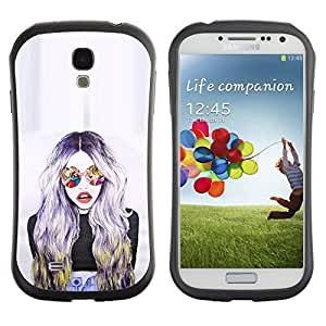 LASTONE PHONE CASE / Suave Silicona Caso Carcasa de Caucho Funda para Samsung Galaxy S4 I9500 / Sunglasses Woman Design Art