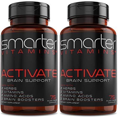 (2 Pack) Brain Support Supplement Promotes Memory + Clarity, Brain Health + Brain Function, Premium Brain Vitamins for Focus W/Bacopa 50%, Alpha-GPC, L-Dopa, L-Theanine, Vitamin B3 + B6
