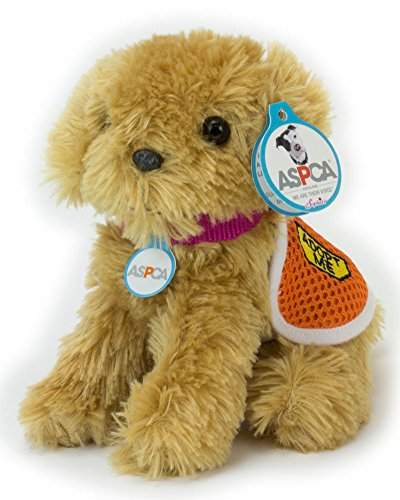 Adopt-A-Pet Puppy. 18 Inch Doll Pets, Golden Puppy with ASPCA Adoption Vest a Perfect Companion for your 18 Inch American Girl Dolls & More! ASPCA Adoption Vest on Golden Dog (Pets For 18 Inch Dolls)