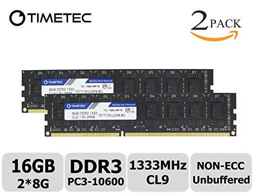 Timetec Hynix IC 16GB Kit (2x8GB)  DDR3 1333MHz PC3-10600 (8g Motherboard System)