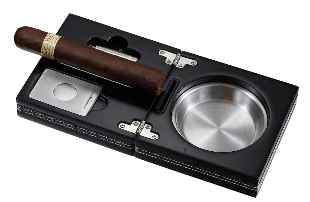 Visol Products VASH612 Opal Wooden Folding Cigar Ashtray