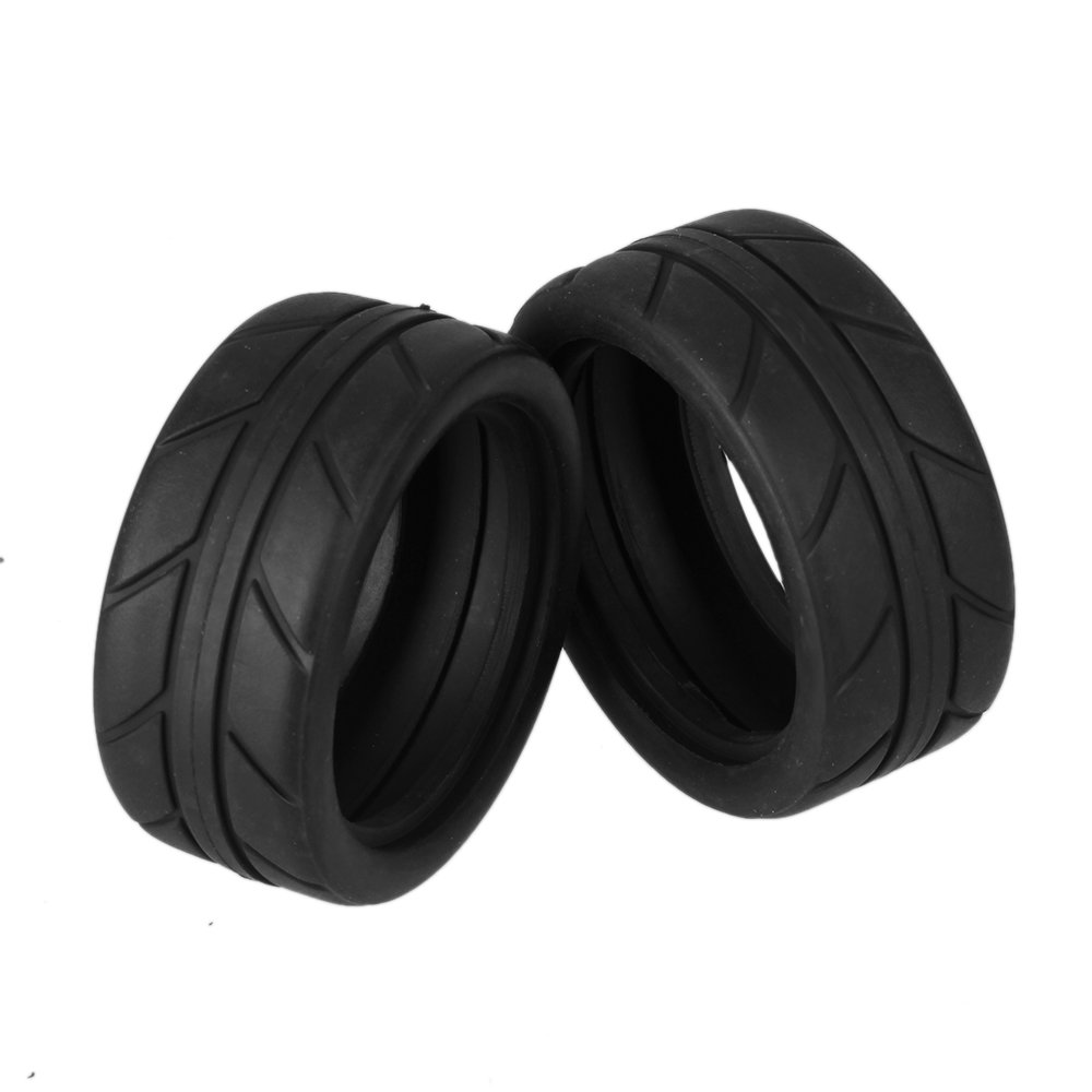 BQLZR 2.56 OD Black RC 1:10 Arrows Pattern Rubber Tyre Tire fit On Road Racing Car Pack of 4 BQLZRN05442