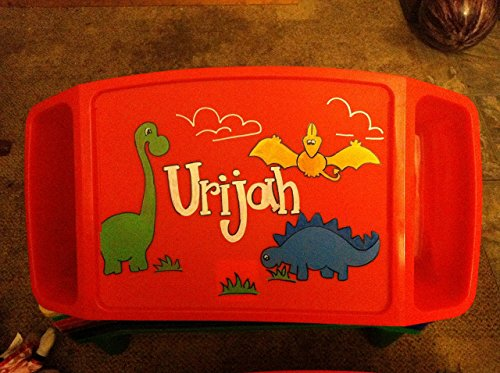 Hand Painted Lap Tray--Dinosaur