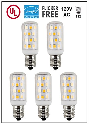 CBconcept UL-Listed, E12 LED Candelabra Light Bulb, 5-Pac...