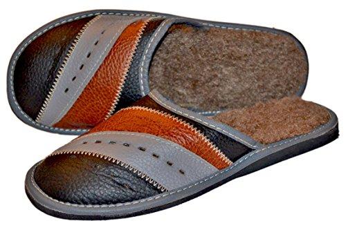 Pantofole Da Uomo In Vera Pelle Di Renna Per Uomo | Casa Scuff Multicolore 2