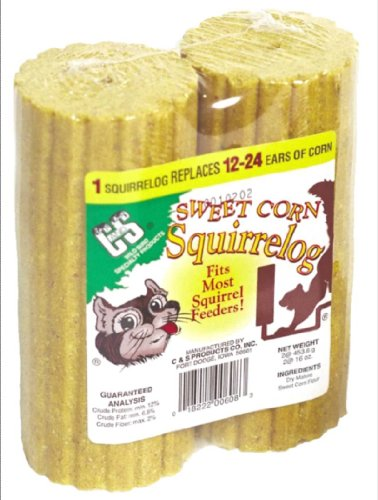 C & S Products Sweet Corn Squirrelog, 12 Count, 2 per set, Set of (Kaytee Squirrel)