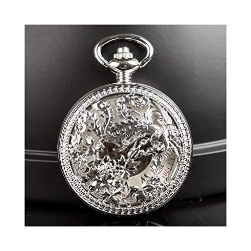 Fickur män antik, drake Fenix brons automatisk mekanisk, födelsedagspresent minnesgåva, hängande klocka 123 (Design: C)