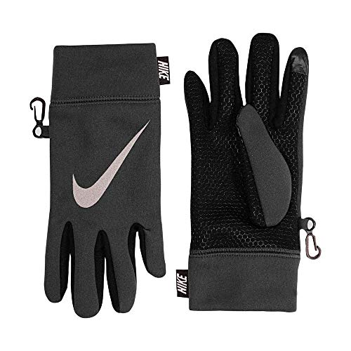 Nike Boy's Therma Reflect Gloves (4/7, Anthracite(8A2600-693)/Black)