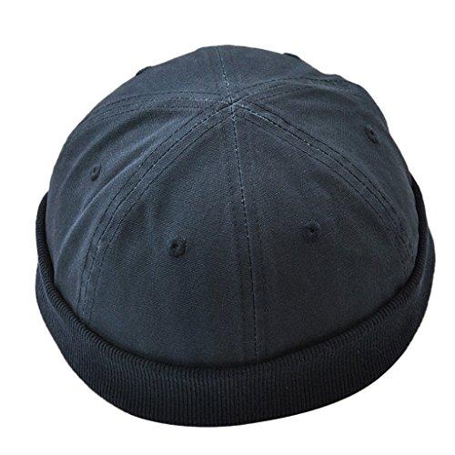 Beanie Hombre Algodón negro Marinero para de Gorro Invierno Homyl Sombrero Casual de anSXxaqZ