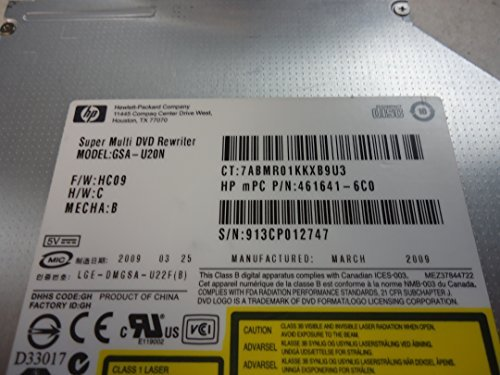 HP NO FACEPLATE DVD/RW CD/RW Burner Drive 492559-001 GSA-U20N 461641-6C0 by HP (Image #1)