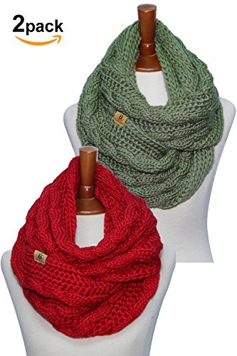 BASICO ACCESSORY レディース B078455BX7 2pk Knit Red/ Khaki 2pk Knit Red/ Khaki