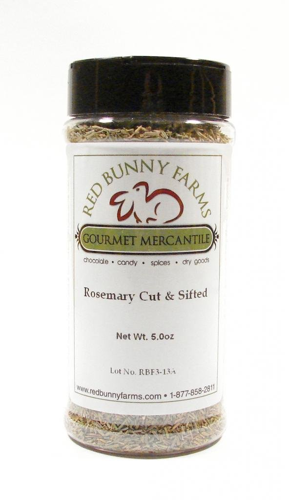Cut Rosemary-Large 16 FL Oz Spice Jar with Dual Access Easy Flip Shaker Lid