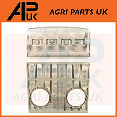 APUK RED Upper /& Lower Grill Set NO light holes Compatible with Ford 2000 3000 4000 5000 7000 Tractor
