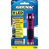 Rayovac Value Bright 9-LED UV Flashlight with Batteries (VBUV-B)