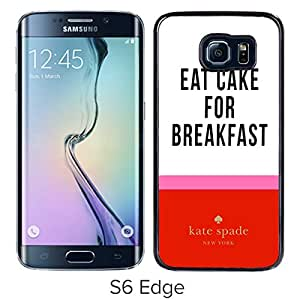Unique Custom Designed Kate Spade Cover Case For Samsung Galaxy S6 Edge Black Phone Case 278