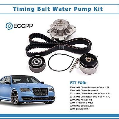ECCPP New Timing Belt Water Pump Kit Fit for 2008-2014 Chevrolet Aveo Cruze Sonic Aveo5 Pontiac G3 Wave Saturn Astra Suzuki Swift+ 1.6L 1.8L 4Cyl: Automotive