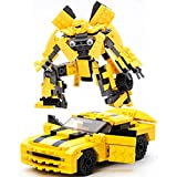 OLS Building Blocks Set Robot Car Blocks Bricks Assembled Models Educational Toys for Children - Yellow (221pcs)