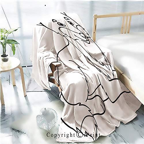 Printed Soft Blanket Premium Blanket,Coloring Pages Cute Beautiful
